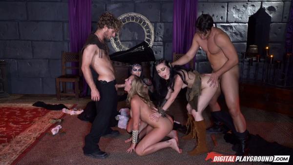 Герои Меча и Магии (XXX пародия): Групповой секс со слугами госпожи