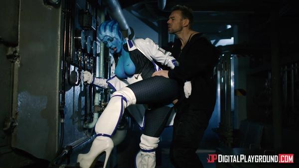 Mass Effect (порно пародия): Шепард трахает Лиару Т'Сони